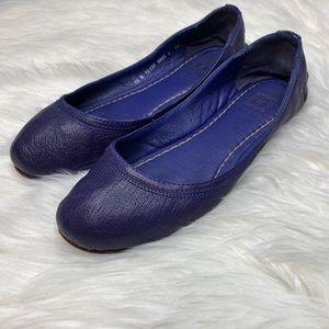 Frye Purple Carson Leather Ballet Flats Size 7.5
